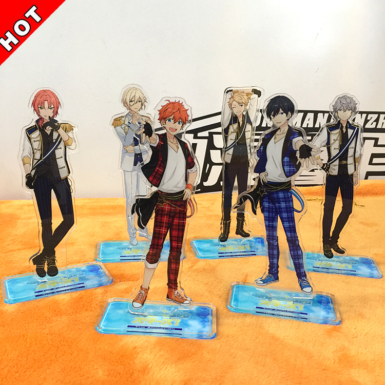 Anime Ensemble Stars Characters Figurines Acrylic Ornaments Badge Desktop Decoration Gifts