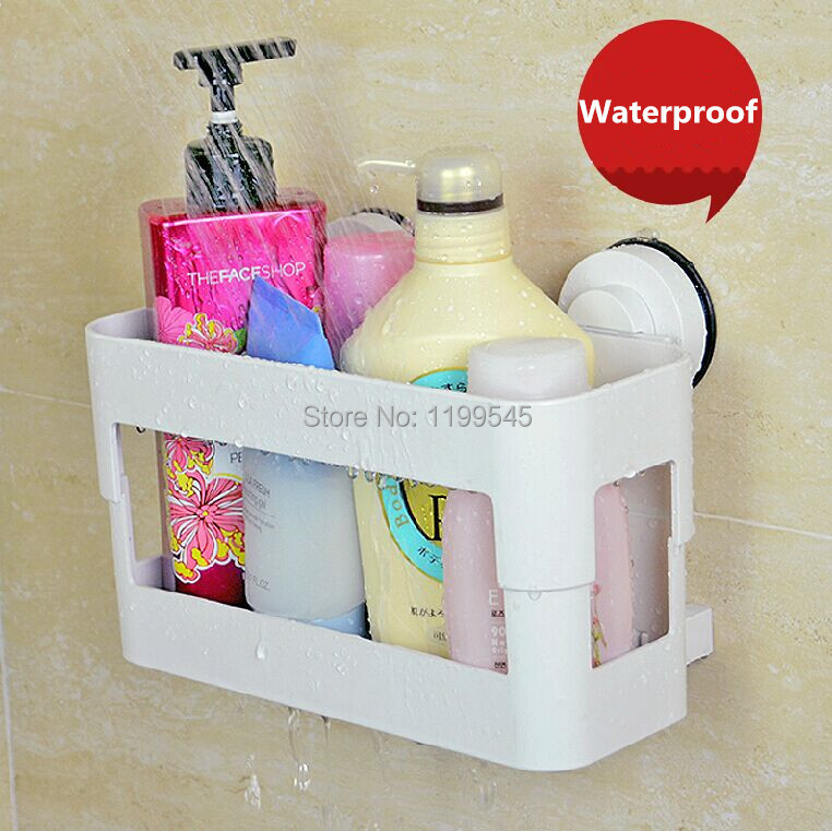 ̀•́ Suction Shower Caddy Storage Holder Shower Rack Bathroom Rack ...