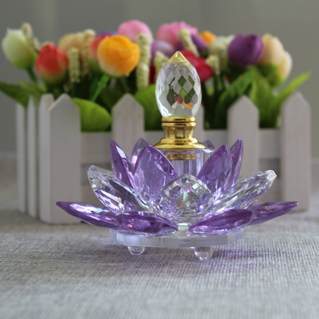 Jqj crystal lotus flower perfume bottle feng shui home desktop jqj crystal lotus flower perfume bottle feng shui home desktop decorative glass marbles ornaments home decoration mightylinksfo