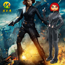 Latest The Avengers Black Widow Cosplay Costume For Sale Captain America Halloween Party Clothes For Women