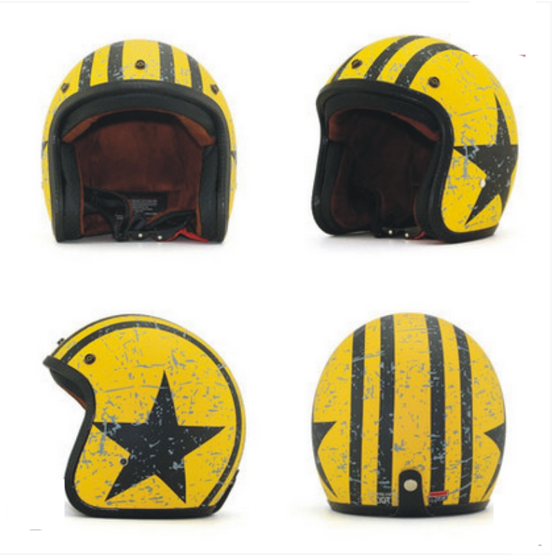 Hot colorful Harley Motorcycle Helmets half face Personalized locomotive Helmet DOT Appr ...
