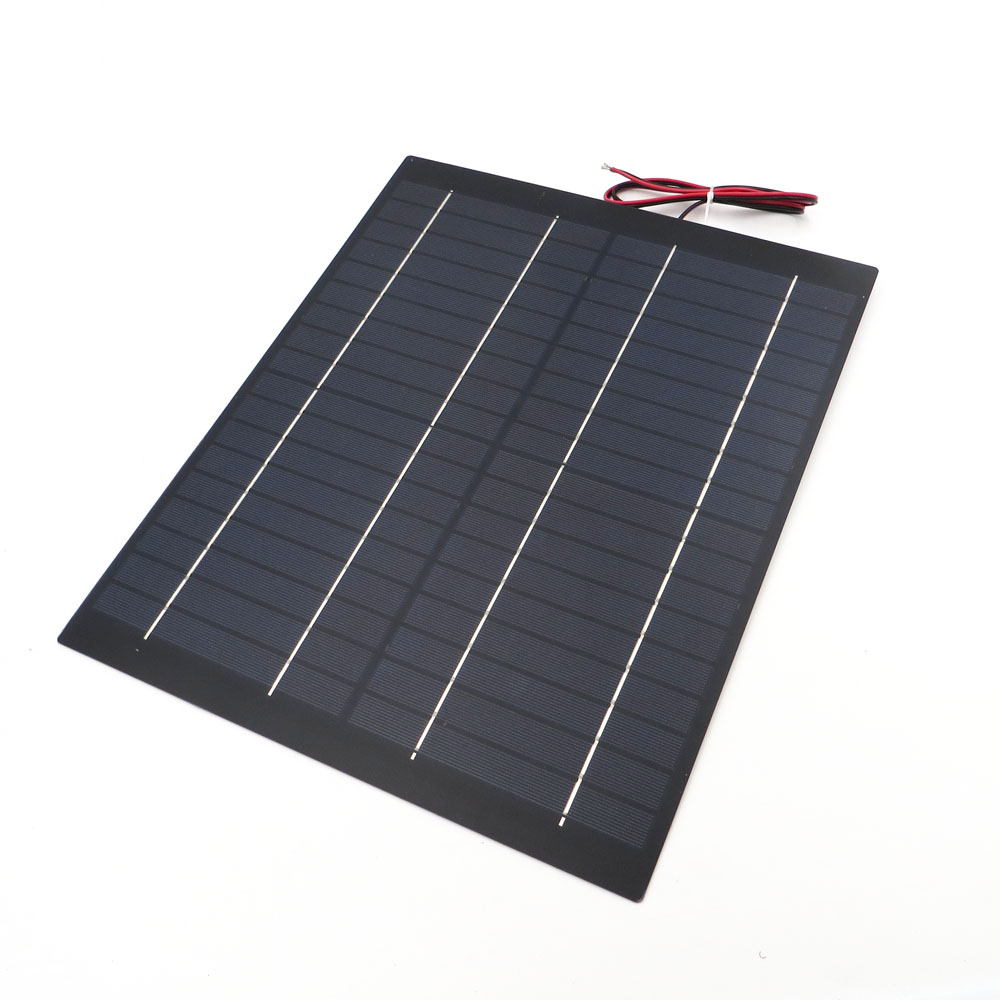 Image 4 - 2pcs x 20Watt Solar Panel 18V 20W 1.1A Mini PET polycrystalline PV module cell charge for 12V battery Charger 20 watts W Watt-in Solar Cells from Consumer Electronics
