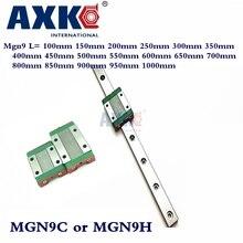 9 мм линейный руководство Mgn9 L = 100 мм 150 мм 200 мм 250 мм 300 мм 350 мм 400 мм 450 мм 500 мм 550 мм 600 мм 650 мм 700 мм с 1 шт. Mgn9c или Mgn9h