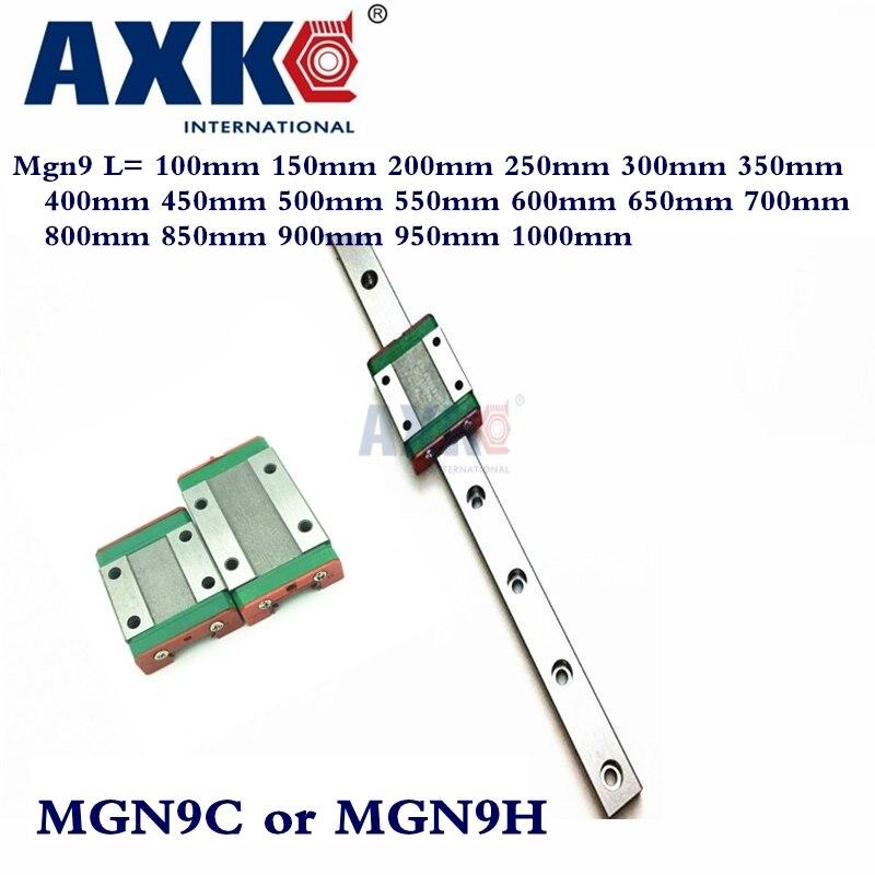 9mm Linearführung Mgn9 L = 100mm 150mm 200mm 250mm 300mm 350mm 400mm 450mm 500mm 550mm 600mm 650mm 700mm Mit 1 stücke Mgn9c Oder Mgn9h