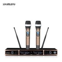 Professional Wireless Microphone SU 600 whole LCD Control screen Sound good quality Church singing home karaoke