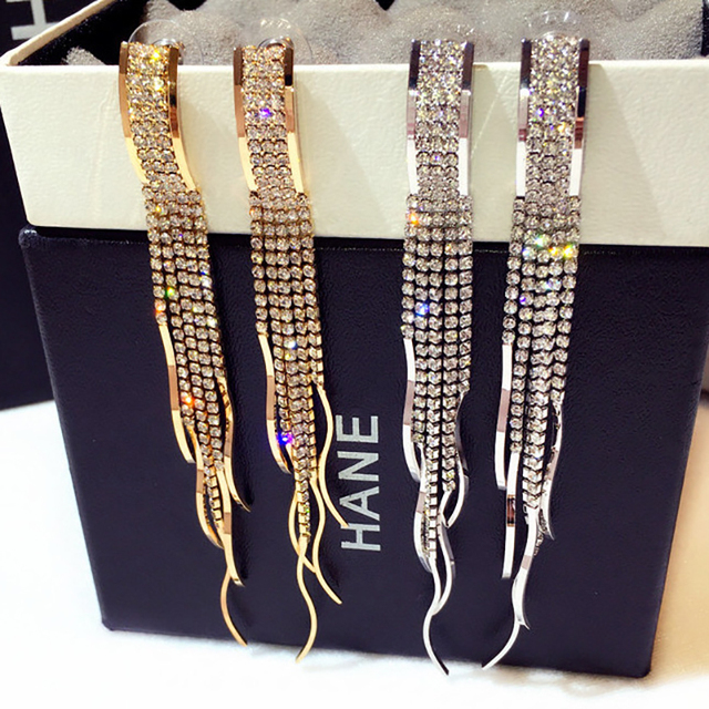 Ladies Christmas Gifts.Us 3 59 10 Off New Fashion Bling Bling Gadgets Bohemian Big Women Earings For Christmas Gifts Korean Ladies Long Drup Earing Jewelry In Drop