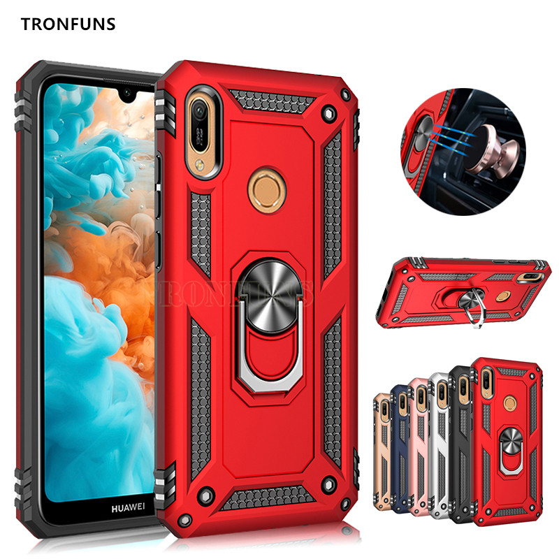 Armor <font><b>Shockproof</b></font> <font><b>Case</b></font> For <font><b>Huawei</b></font> P30 Pro P20 Lite Y5 Y6 <font><b>Y7</b></font> Pro Prime P Smart <font><b>2019</b></font> Honor 10 Lite 8A 8C NOVA 3e 4e Holder Cover image