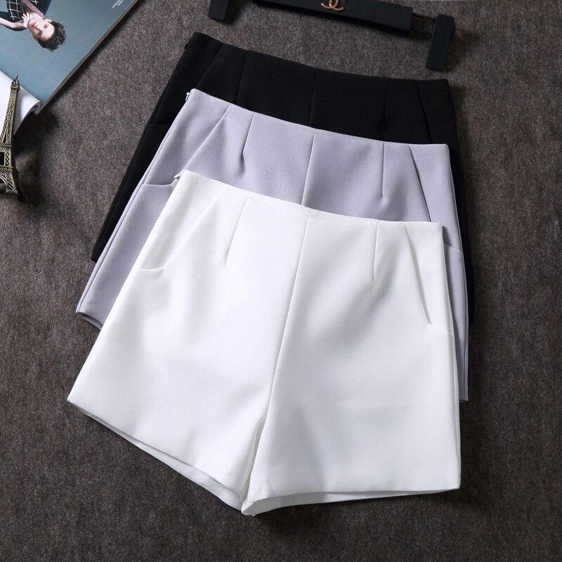 2018 New Summer hot Fashion New Women Shorts Skirts High Waist Casual Suit Shorts Black White Women Short Pants