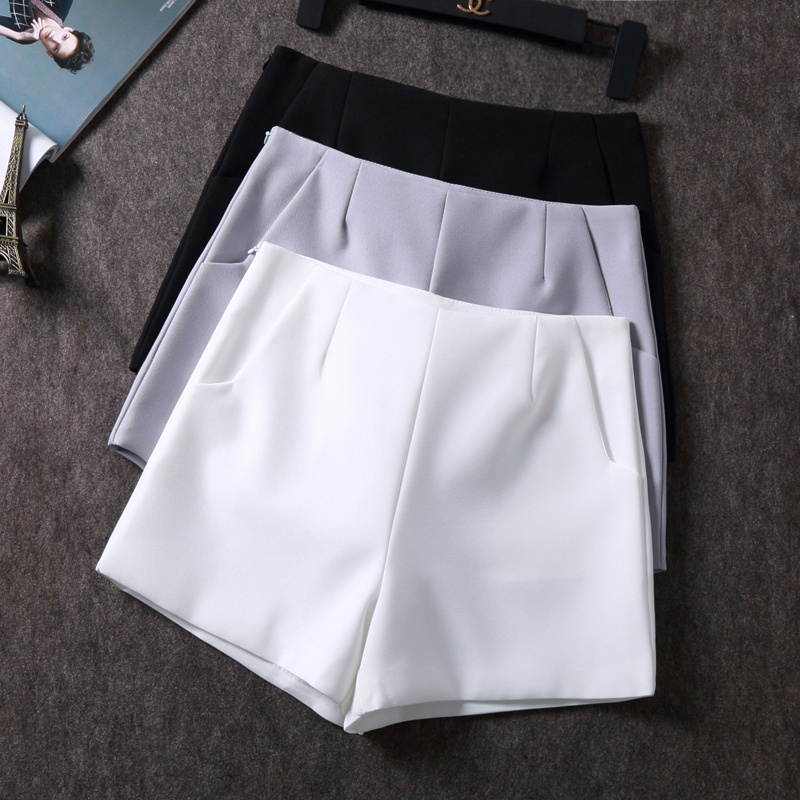 2018 New Summer hot Fashion New Women   Shorts   Skirts High Waist Casual Suit   Shorts   Black White Women   Short   Pants