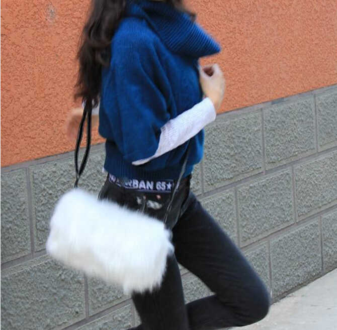 ... New Lovely women bags Faux Rabbit Fur bags Small Messenger Bag for  Women Crossbody Shoulder Bags ... 6205a8c9389e0