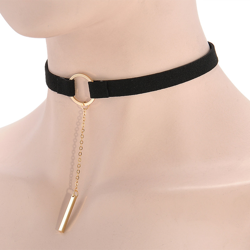 HTB1lOK6OXXXXXb7XVXXq6xXFXXXH Punk Leather Collar Necklace With Geometric Pendant