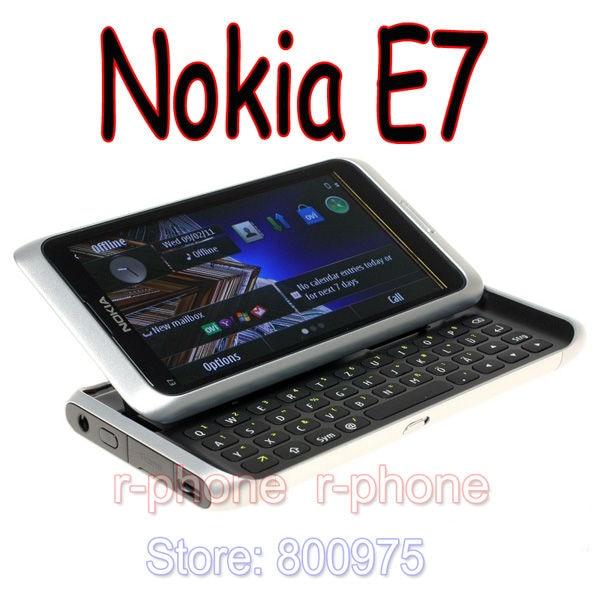 NOKIA E7 Восстановленный мобильный телефон 3G wifi смартфон сенсорный экран Оригинальный разблокированный