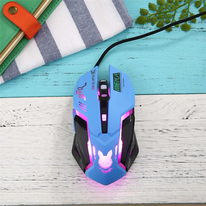 OW D. va Mercy Reaper USB Проводная мышь 6 кнопок оптическая игровая геймерская мышь вспышка для ПК ноутбука CF Overwatch плеер мыши