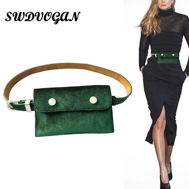 Fashion Velour Women Waist Bag Belt Female 2018 Brand Money Phone Waist Packs Fanny Pack for Women Waistbag Leather Bum Pouch