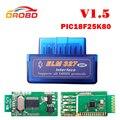 V1.5 Super MINI ELM327 Bluetooth ELM 327 Versão 1.5 Com PIC18F25K80 Chip OBD2/OBDII para Android Torque Car Código Scanner