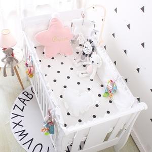 4 шт. бамперы для детской кроватки + простыни, скандинавские протекторы для детской кроватки, Комплект постельного белья для детской комнаты...