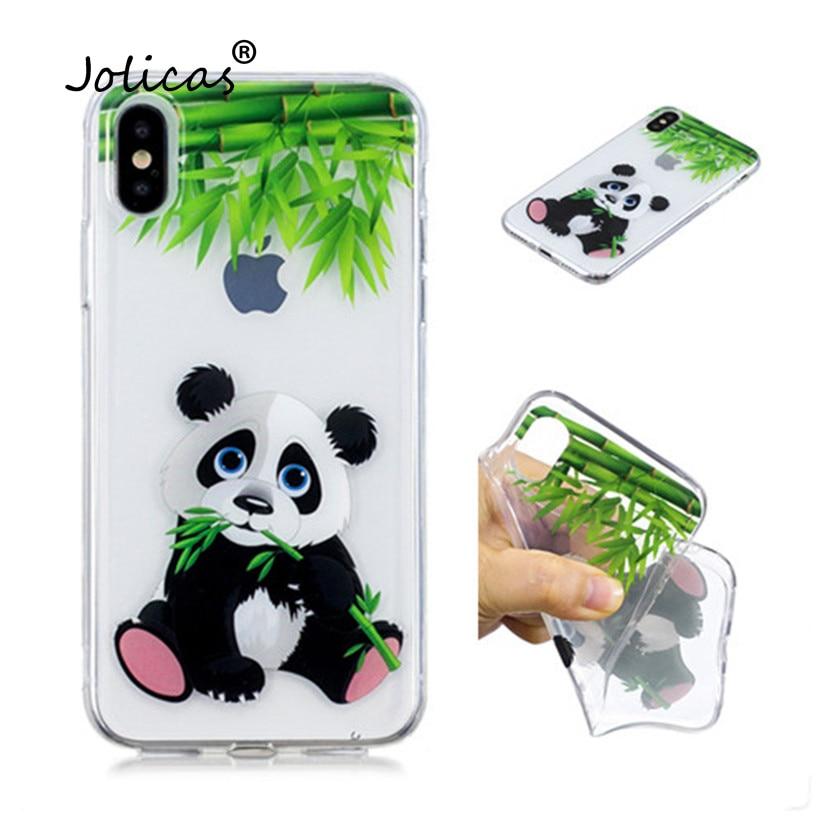 Case For Huawei Nova 3i P Smart Plus Case Silicone For Huawei Y6 Y5 2018 Transparent Case Fashion Panda Cartoon Case Huawey(China)