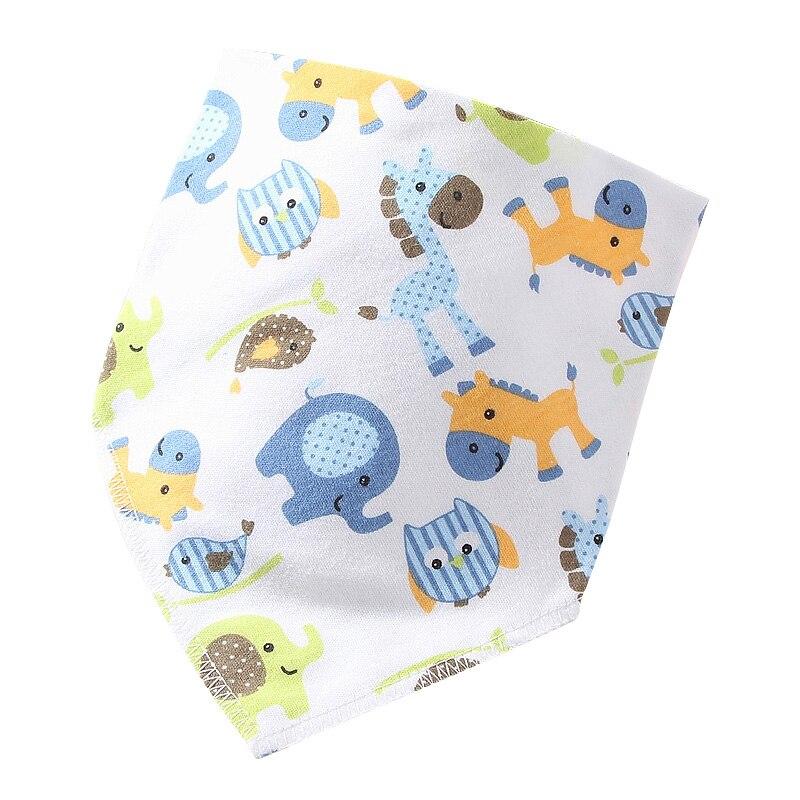 2018 Infant Burp Cloths Newborn Baby Boy Girl Cotton Bids Cartoon Baby Things Feeding Saliva Towel Triangle Bandana Bibs