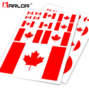 Canadian Flag Canada Maple Car Auto Motorcycle Logo Decal Set Sticker Scratch Off Cover Ipad Notebook Laptop Handy Car Styling(China)