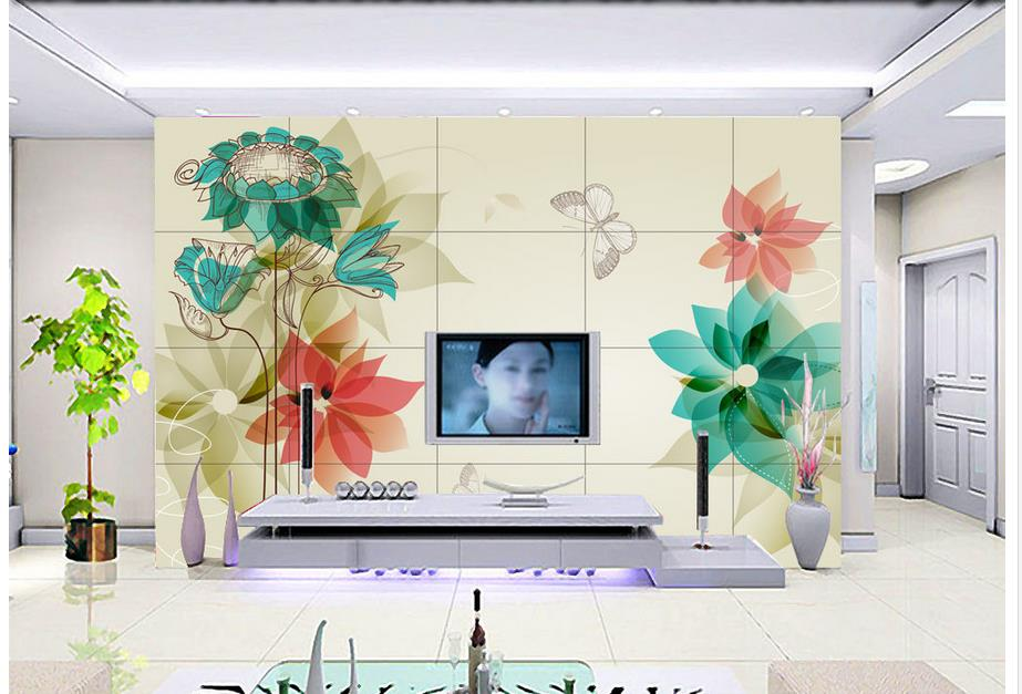 Ceiling Wallpaper Home Decoration Lily White Flowers Green Floral Mural 3d  Ceiling Murals Wallpaper In Wallpapers From Home Improvement On  Aliexpress.com ...