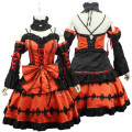 new date a live cosplay costumes Tokizaki kurumi cos clothing dress free size