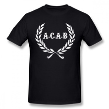 Acab T Shirt A C A B Football ACAB Soccer T-Shirt Men Print Tee Shirt 100 Cotton Funny Short-Sleeve 3XLBeach Tshirt рюкзак anteater rolltop acab