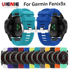 UIENIE Silicagel Soft Quick Release Kit fit Watchband For Garmin Fenix 5X/Fenix 3/Fenix 3 HR Replacement wrist Watch Strap Band