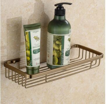 Wall Mounted Antique bronze Alumimun bathroom shelf Bathroom Soap ...