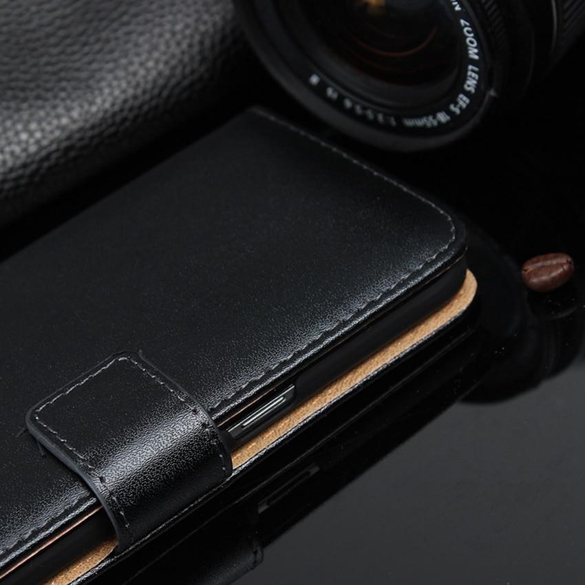 Äkta läder plånbok med stativ magnetisk lås telefon ärmväska - Reservdelar och tillbehör för mobiltelefoner - Foto 3
