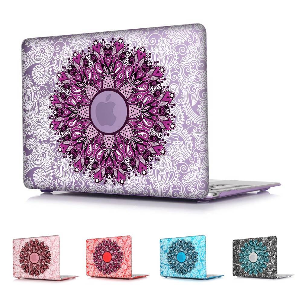 Prix pour Mandala Motif 5 Couleurs Air 13.3 Air 11 Cas Dur de Couverture Pour Macbook Pro 13 Pro 15 Retina 12 A1534 Retina 13 15 pouce + Livraison cadeau
