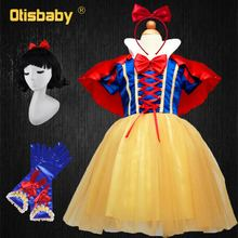 цена на OTISBABY 4 layers Snow White Cosplay Dresses for Girls Party Princess Dress Children's Tulle Dress Baby Girl Tutu Dress Infant