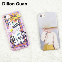 For iphone 6 case Retro Oil Painting Girl for iphone 7 case DILLON GUAN Abstract Art Gradient Hard Back Cover for iphone 8 case(China)