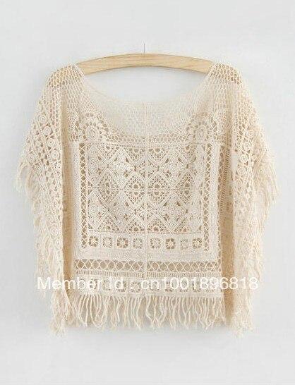 Free Shipping Cute Japanese Style Cotton Crochet Batwing geometric ...