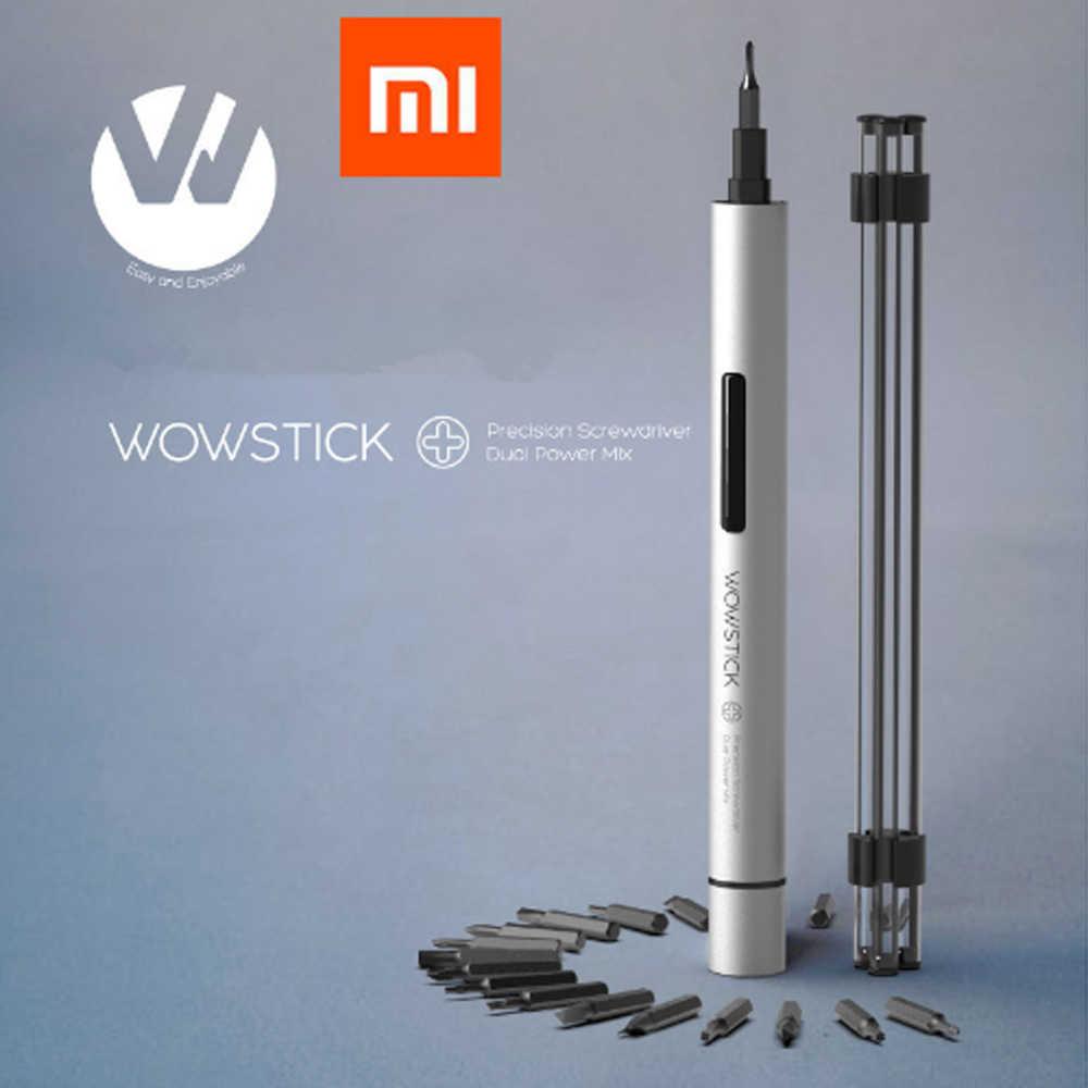Nowy Xiaomi Mijia Wowstick spróbować ulepszony wkrętak elektryczny 20 w 1 zestawy korpus z Aluminium z narzędzia DIY zestaw
