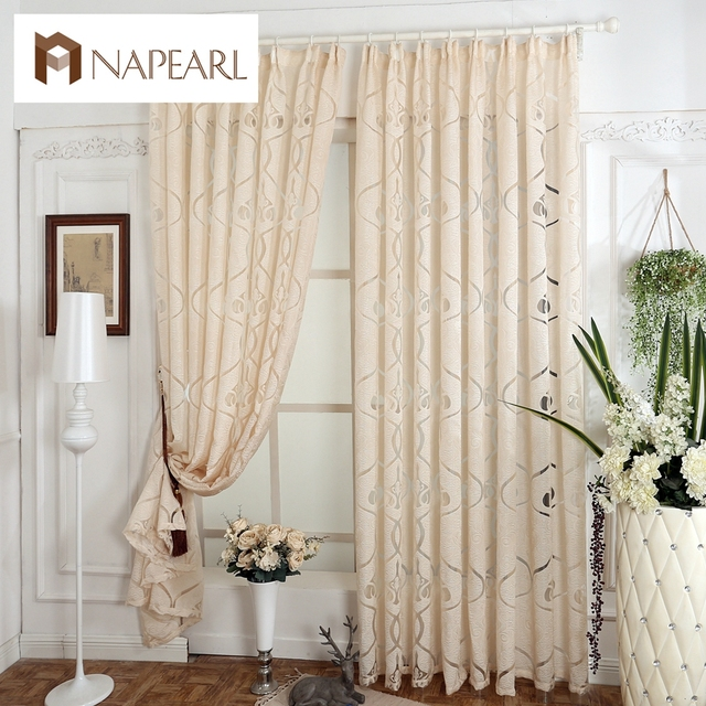 Napearl Rustic Design Custom Made Curtains For Windows Dining Room Finished Curtain D Gray Brown White