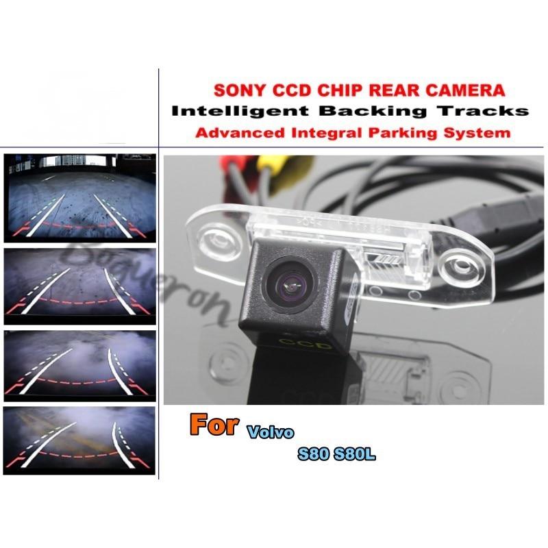 Pour Volvo S80 S80L voiture Parking Intelligent pistes caméra/HD caméra de sauvegarde/caméra de recul guidage dynamique tragectoire