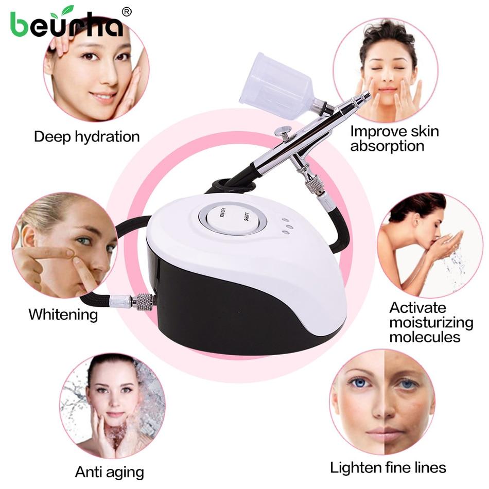 Portable SPA Massage Sprayer Machine Nano Face Steamer Water Oxygen Meter Nebulizer for Face Beauty Equipment