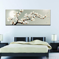 Canvas Painting Springtime Magnolia Flower Print Poster, Wall Pictures for Living Room Home Decoration, Wall Art Decor Gift