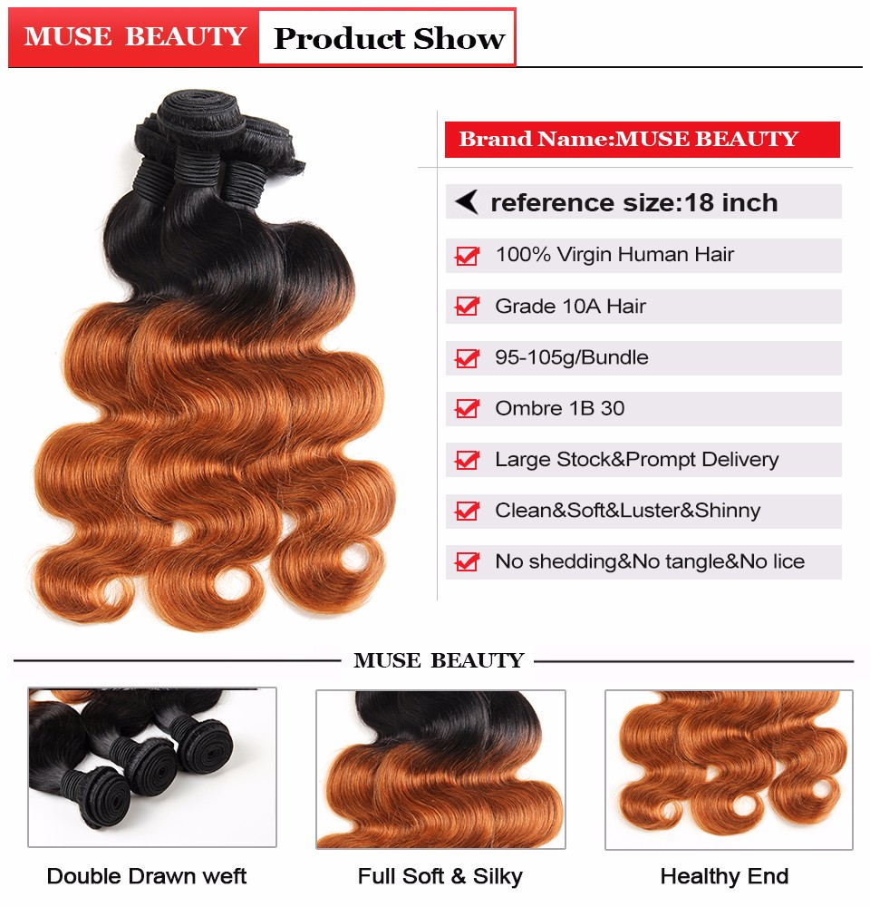malaysian virgin hair ombre bundles