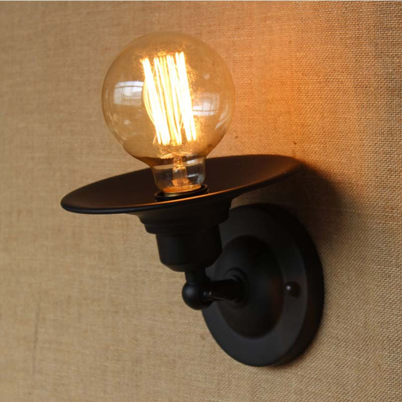 American Vintage Wall Lamp for Indoor Outdoor lighting,Retro Industry Wall Lights with Edison Bulb for Bedroom,Black 220V E27 american vintage wall lamp for indoor outdoor lighting retro industry wall lights with edison bulb for bedroom black 220v e27