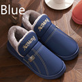 2017 Fashion Keep Warm Plush Male Winter Slippers Home Furnishing Thick Bottom Men Slippers Boy Non Slip Waterproof Slippers Men