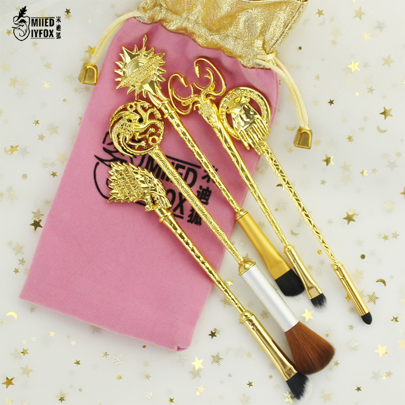 5 Style 8pc Fashion Jewelry Game Of Thrones Makeup Cosmetic Brush Eye Shadow Foundation Eyebrow