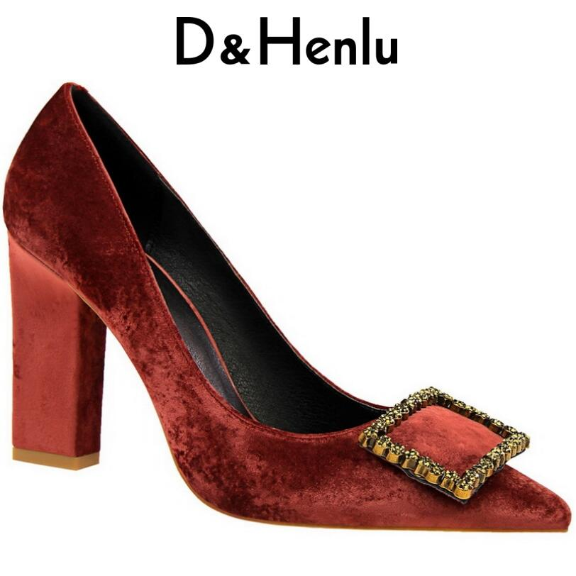 D & Henlu Chaussures Femmes Talons hauts Chaussures Pompes Talons 2018 De Mariage chaussures Sexy À Talons Hauts Cristal chaussures femmes de luxe de marque