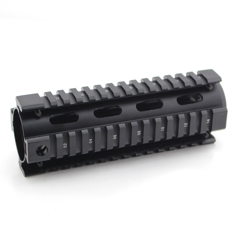 Tactical 7 inch <font><b>Tube</b></font> Free Float Hand guard Picatinny rail Quad Rail Mount System for M4 <font><b>AR15</b></font> image