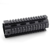 Tactical 6 7 Inch Tube Free Float Handguard Picatinny Quad Rail Mount System For M4 AR15