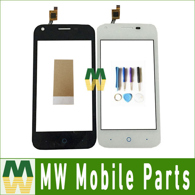 1PC/ Lot High Quality For ZTE blade A465 5.0'' Touch screen Touch Plane Digitizer Black White Color With Tape &Tool