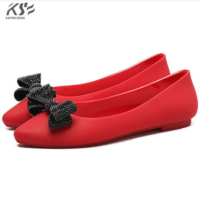 2017 new jelly shoes candy sandals rubber summer beach flats girls knot casual lady fashional softertable  shoes female women jelly shoes candy sandals luxury brand summer beach flats bowknot shoes casual lady fashional envirionmental shoes female