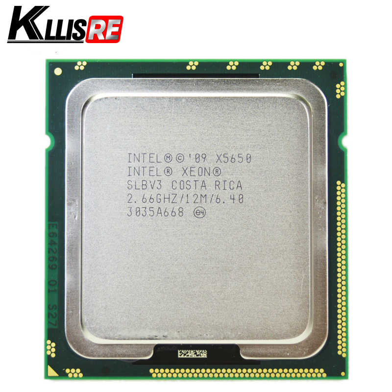 Intel Xeon X5650 SLBV3 Prosesor Enam Core 2.66G Hz LGA1366 12MB L3 Cache Server CPU