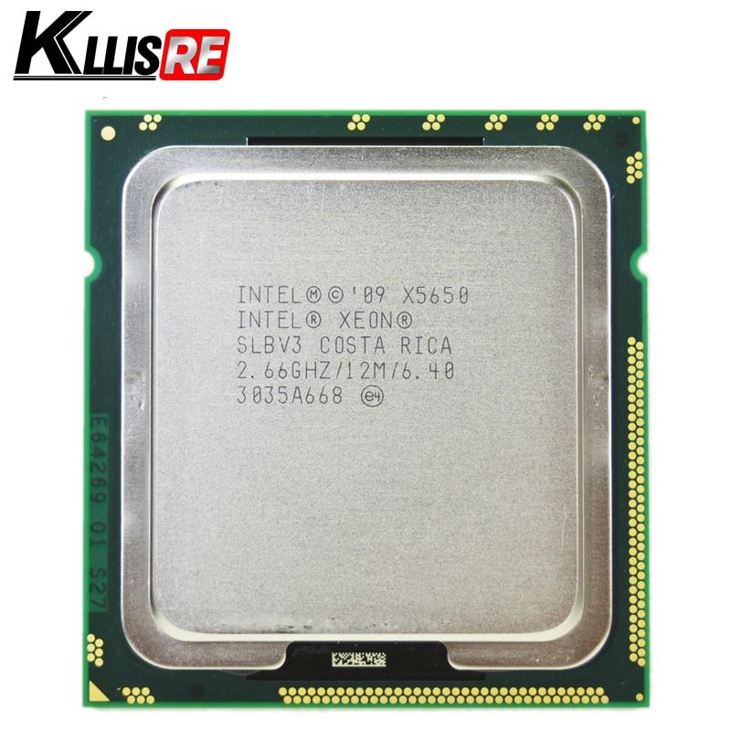 Intel Xeon x5650 slbv3 процессор шести основных 2.66 ГГц LGA1366 12 МБ L3 Кэш сервер Процессор