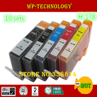 10 Sets Compatible Cartridge Suit For Hp178 H 178XL Suit For HP C6300 C5300 D5400